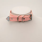 LEATHER HEART PADLOCK CHOKER (CLICK FOR 3 COLORS)