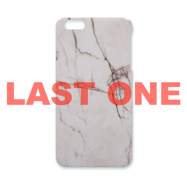 MARBLE WHITE iPHONE CASE 6(s)