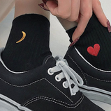 HEART-EMBROIDERED SOCKS