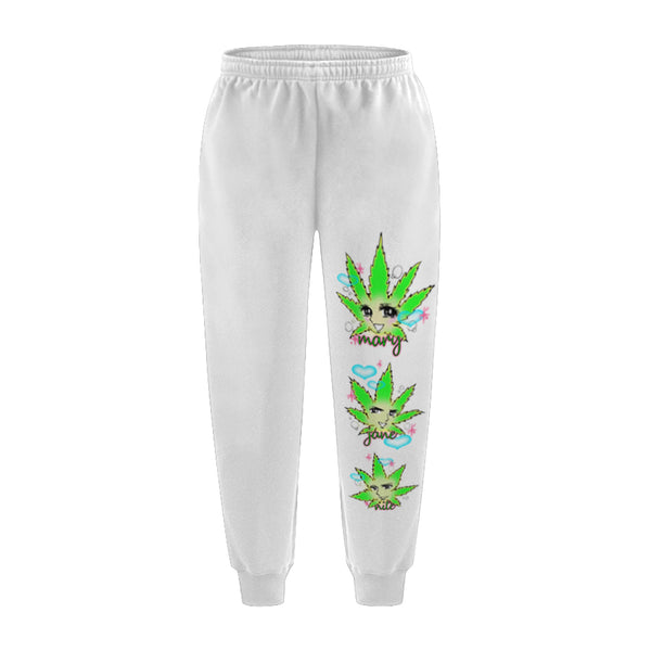 MJN GANG SWEATPANTS WHITE - MJN ORIGINALS