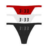 3:33 REFLECTIVE THONG 3PIECE SET - MJN ORIGINALS