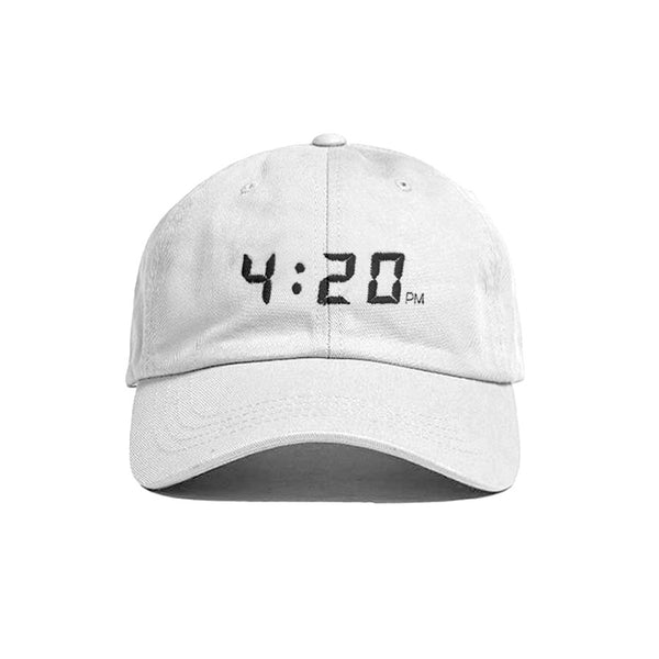 SNAPCHAT 4:20PM HAT WHITE - MJN ORIGINALS
