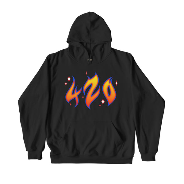 HAPPY 420 HOODIE BLACK - MJN ORIGINALS