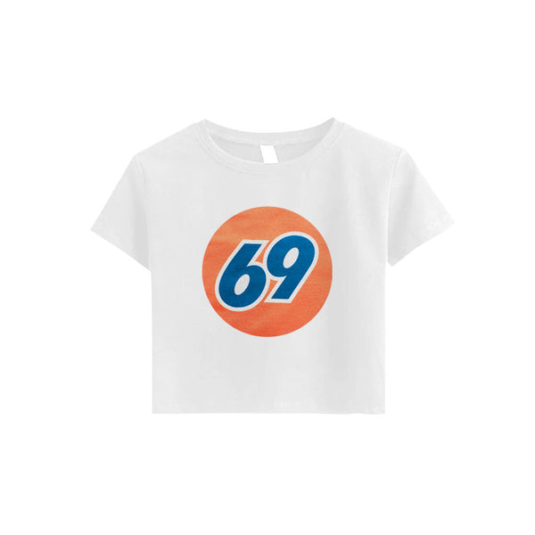 69 GAS STATION CROP TEE - MJN ORIGINALS