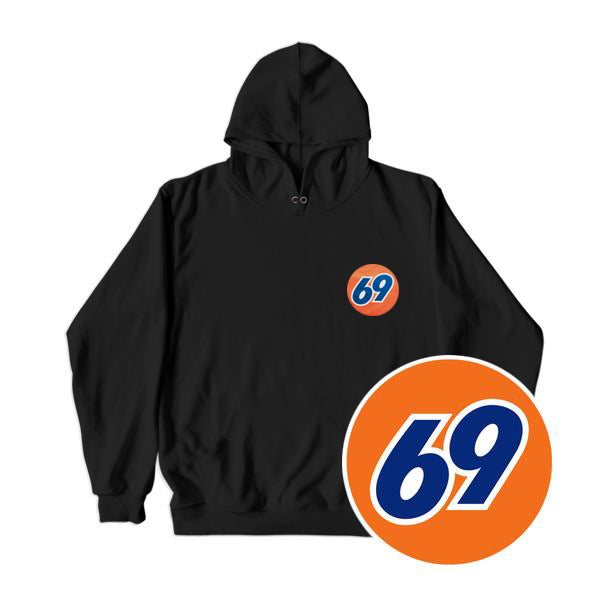 69 GAS STATION HOODIE BLACK - MJN ORIGINALS