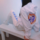 69 GAS STATION HOODIE WHITE - MJN ORIGINALS
