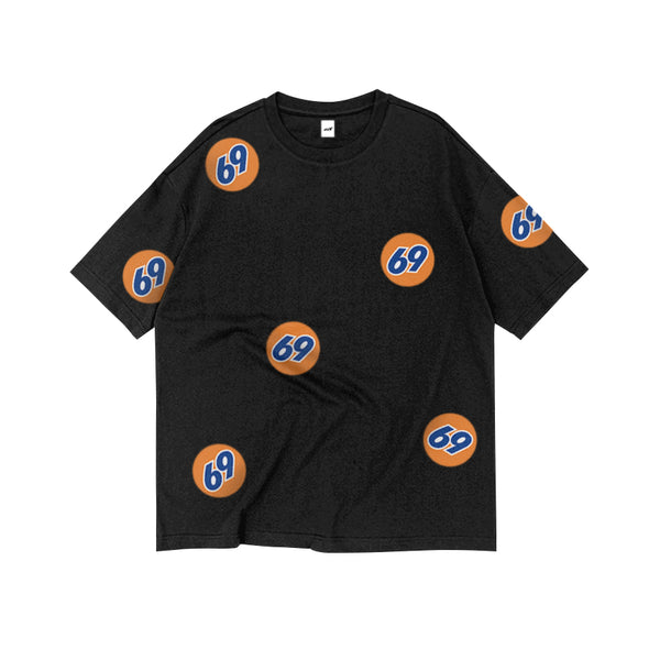 69 GAS STATION OVERSIZED TEE BLACK - MJN ORIGINALS