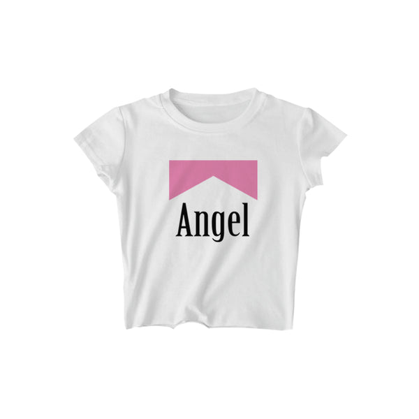 ANGEL REFLECTIVE CROPPED TEE - MJN ORIGINALS