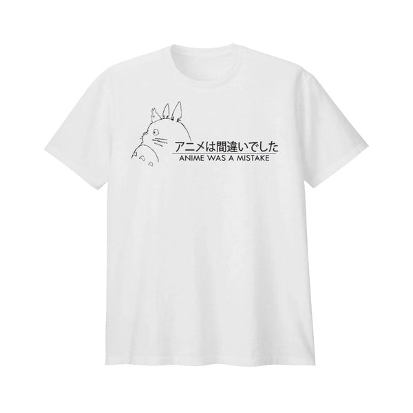 ANIME WAS A MISTAKE TEE SHIRT WHITE