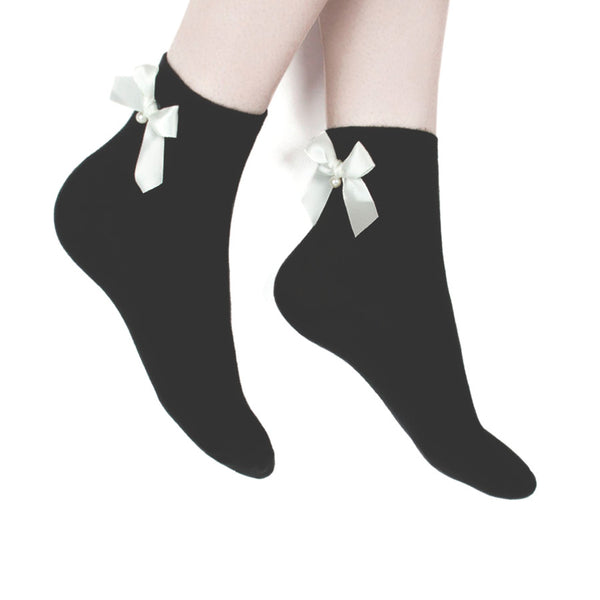 BOW SOCKS (CLICK FOR 3 COLORS)