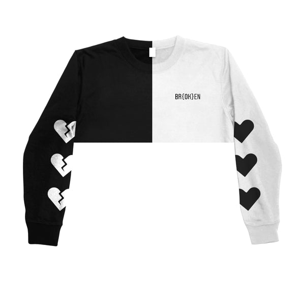 BROKEN CROPPED  SWEATSHIRT - MJN ORIGINALS