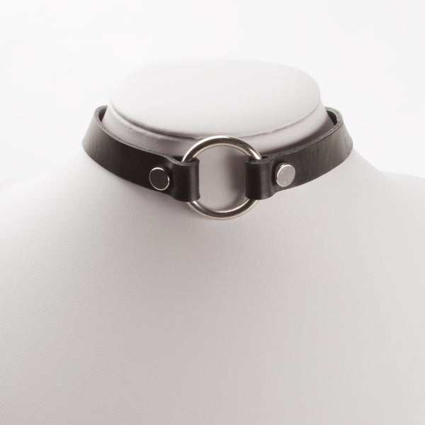 CIRCULAR LEATHER CHOKER (CLICK FOR MORE COLORS)