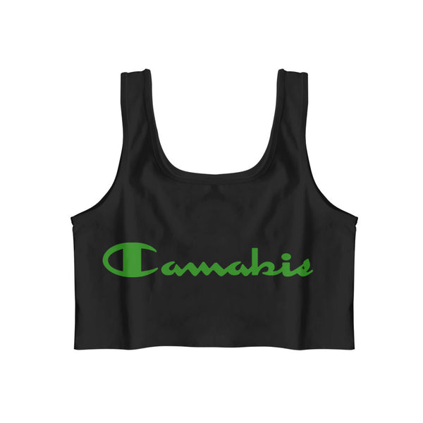 CANNABIS CROP TANK SHIRT BLACK