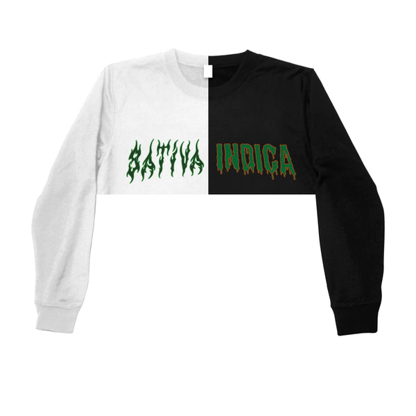 DAY N NITE  CROPPED  SWEATSHIRT - MJN ORIGINALS