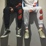 FLAME DRAGON FRUIT SWEATPANTS WHITE - MJN ORIGINALS