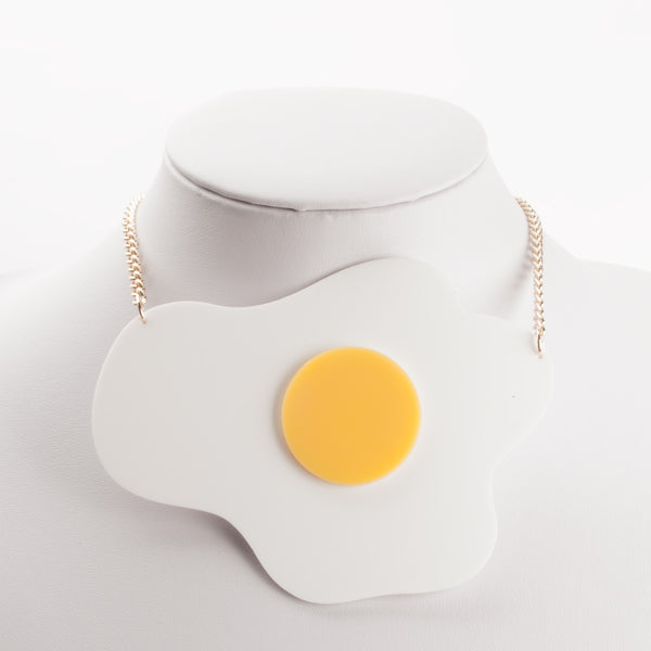 EGG ACRYLIC NECKLACE