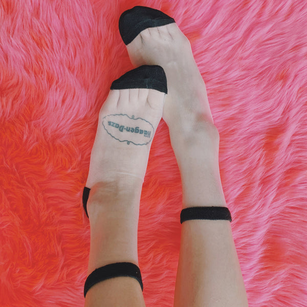 SHEER PATTERNED SOCKS (CLICK FOR 2 COLORS)