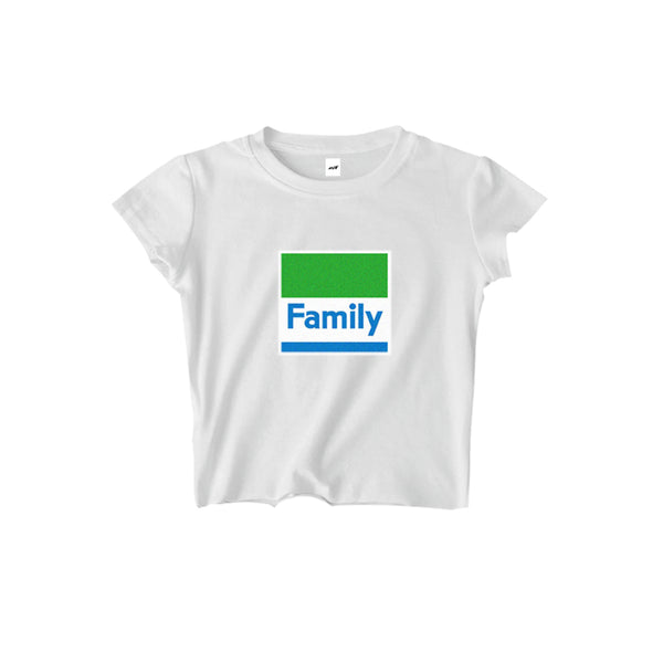 FAMILY CROPPED TEE - MJN ORIGINALS
