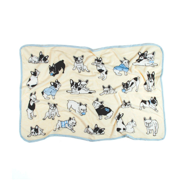FRENCH BULLDOG FLEECE BLANKET