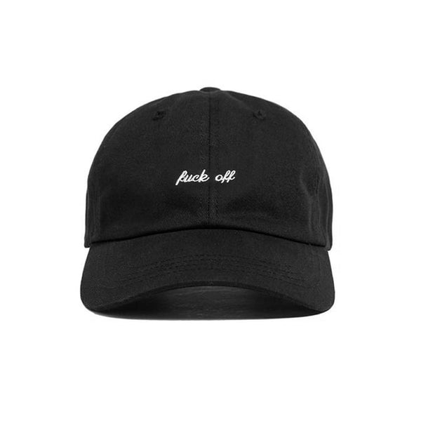 FUCK OFF HAT BLACK - MJN ORIGINALS