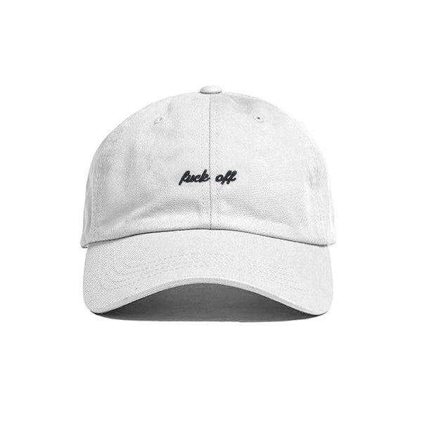 FUCK OFF HAT WHITE - MJN ORIGINALS
