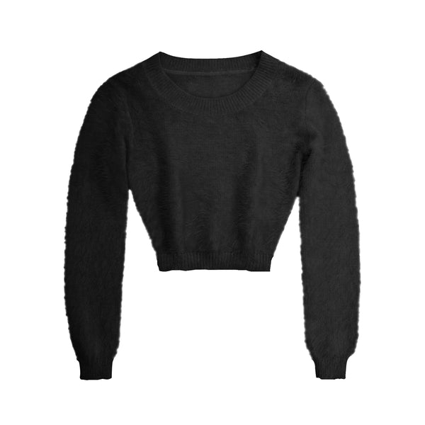 FURRY LONG SLEEVE SHIRT TOP (CLICK FOR MORE COLORS)
