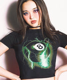 8BALL CROP TEE - MJN ORIGINALS