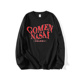 GOMENNASAI (Sorry) LONG SLEEVE T-SHIRT (CLICK FOR 2 COLORS) - MJN ORIGINALS
