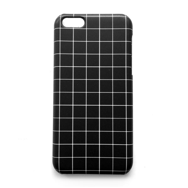GRID iPHONE CASE - BLACK 5c / 6s Plus