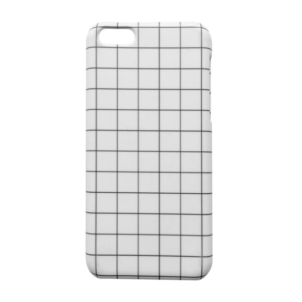GRID iPHONE CASE - WHITE 5c / 6s Plus