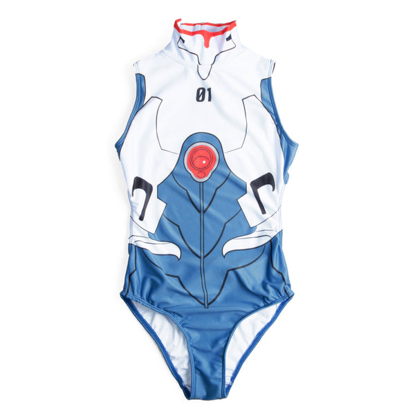 IKARI SHINJI - NO.01 SWIM SUIT WHITE BLUE