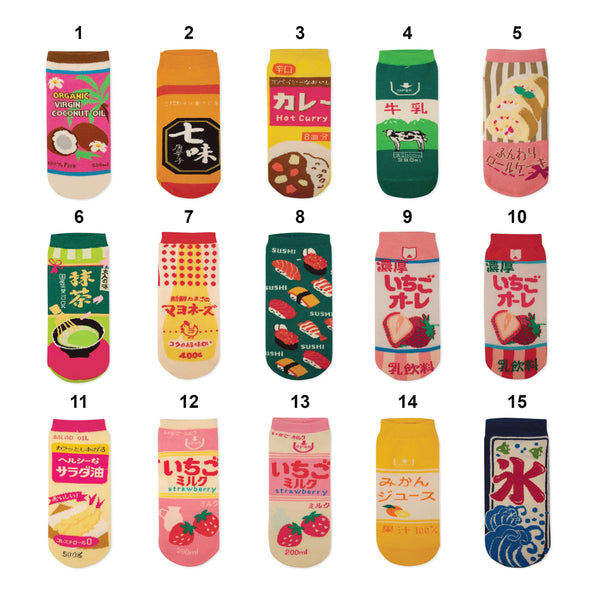 KAWAII FOOD SOCKS (CLICK FOR 15 STYLES)