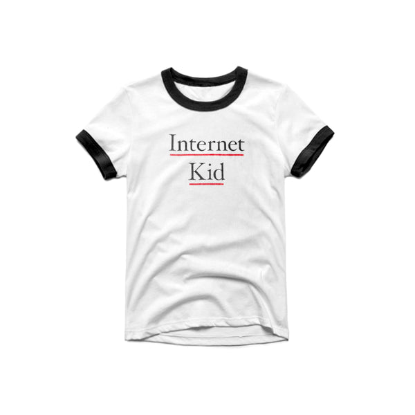 INTERNET KID RINGER T SHIRT - MJN ORIGINALS