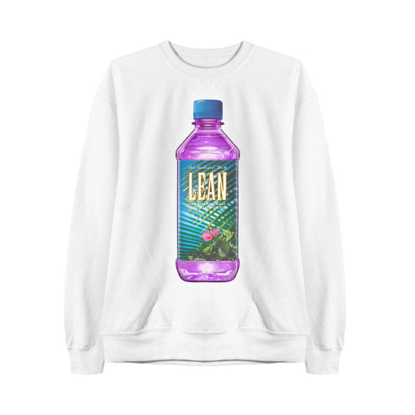 LEAN WATER SWEATSHIRT WHITE - MJN ORIGINALS