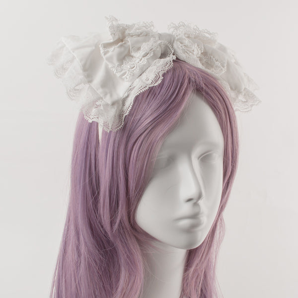 LOLITA LACE BOW HEADBAND (CLICK FOR 3 COLORS)