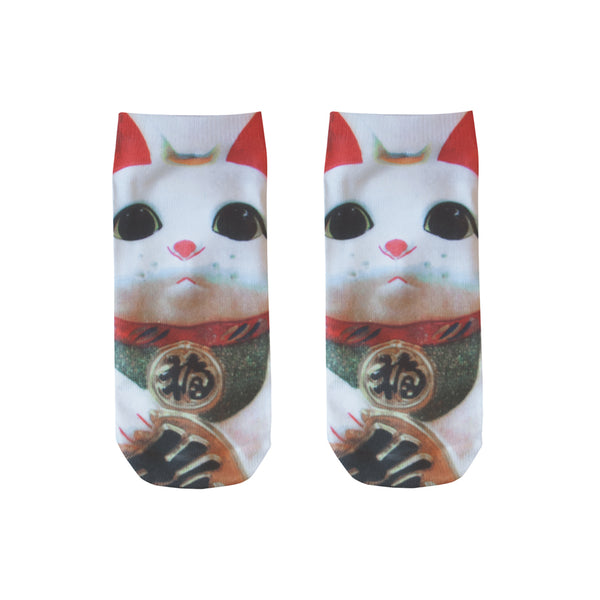 LUCKY CAT SOCKS (MANEKI-NEKO)
