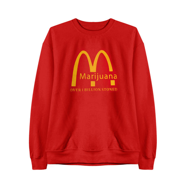 MARIJUANA RED SWEATSHIRT