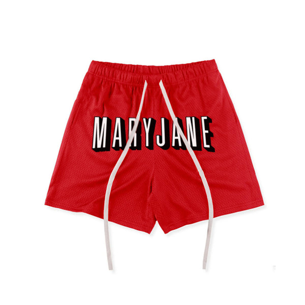 MARYJANE MESH SHORTS RED - MJN ORIGINALS