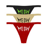 MEOW THONG 3PIECE SET - MJN ORIGINALS