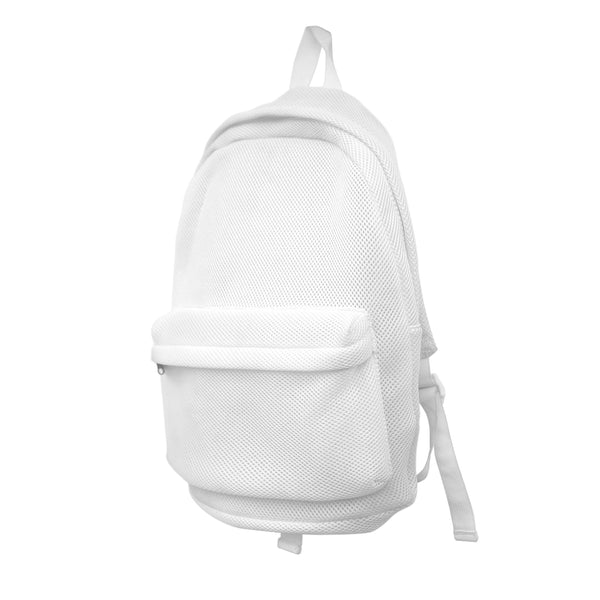 MESH BACKPACK WHITE
