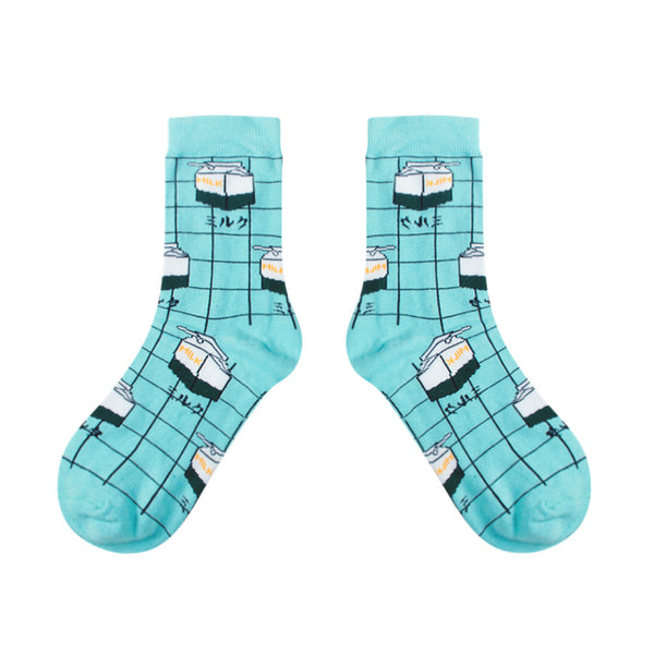 MILK BOX-GRID SOCKS (CLICK FOR 3 COLORS)