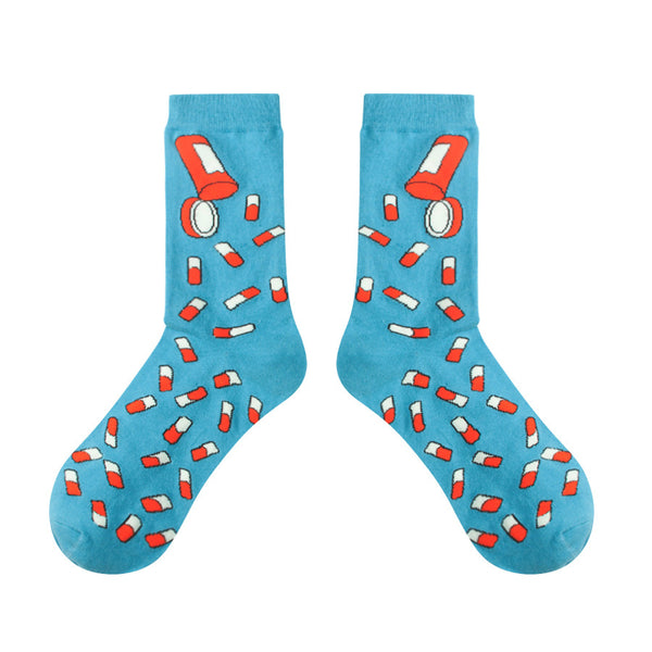 PILL SOCKS BLUE