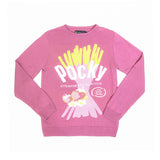 POCKY STRAWBERRY JACQUARD SWEATER - PINK