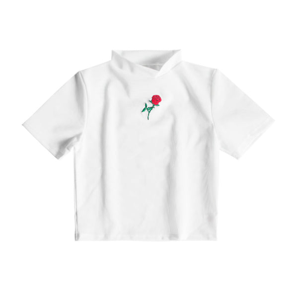 THE ROSE SHIRT TOP WHITE - MJN ORIGINALS