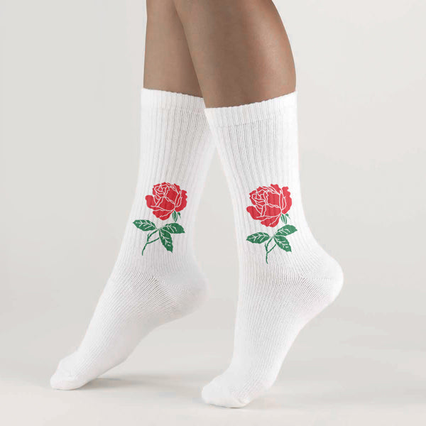 THE ROSE SOCKS WHITE - MJN ORIGINALS