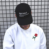 THE ROSE EMBROIDERED SWEATSHIRT WHITE - MJN ORIGINALS
