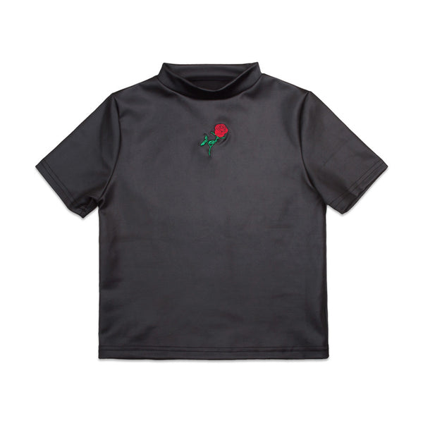 THE ROSE SHIRT TOP BLACK - MJN ORIGINALS