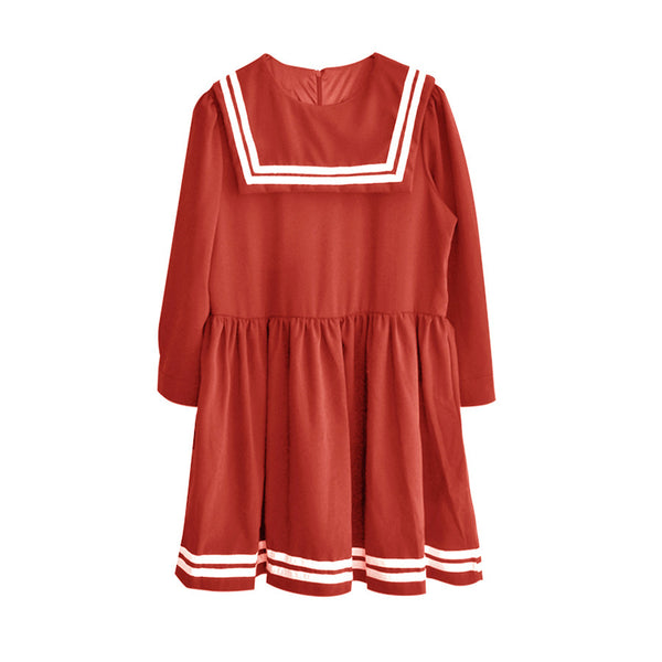 JAPAN SAILOR DRESS RED