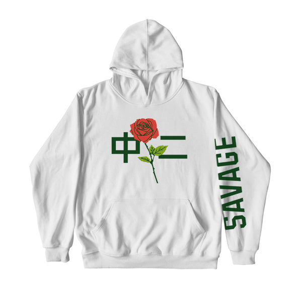 中二 SAVAGE HOODIE WHITE - MJN ORIGINALS