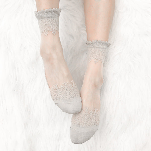LACE PRINT SOCKS (CLICK FOR MORE COLORS)
